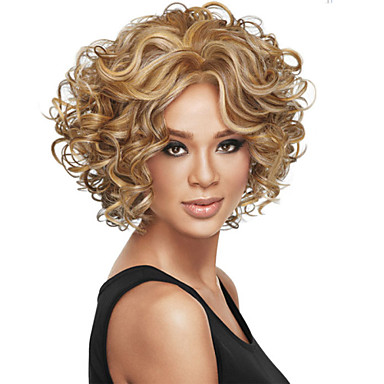 High Quality European and American Fashion Curly Wig, Two Colors Are Optional.