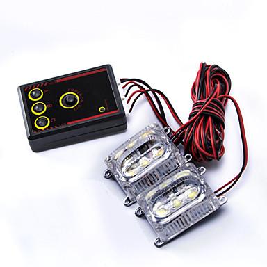 Buy 3-LED Multi-mode Strobe Light Flashing Day Time Running Lamp Controller - White