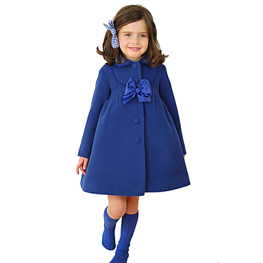 veste manteau fille de hiver printemps automne m lange de coton polyester bleu violet. Black Bedroom Furniture Sets. Home Design Ideas