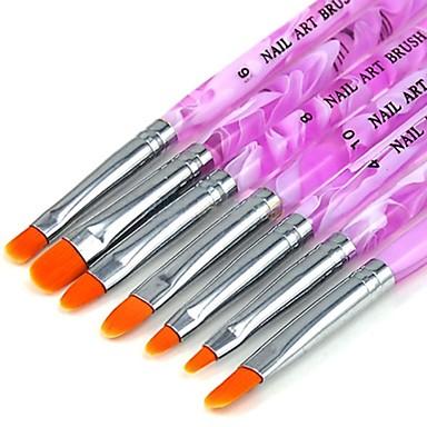 Buy 1 Set (7 pcs) New UV Gel Acrylic Nail Art Builder Brush Pen Painting