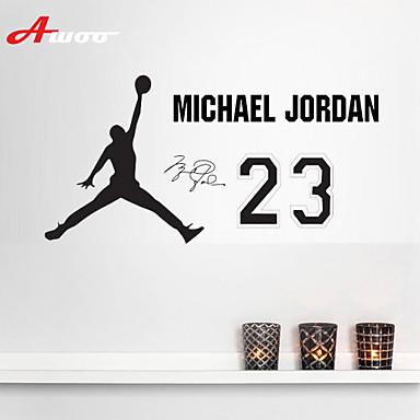 Awoo hand holding basketball michael jordan wall stickers home decor vinyl stickers for kids - Michael jordan bedroom decor ...