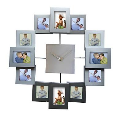 Fashion Design Photo Frame Wall Clock High Quality Home