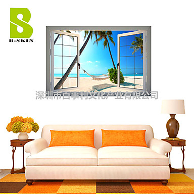 Buy 3D Wall Stickers Decals, Natural Landscape Decor Vinyl