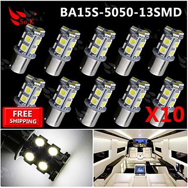 Buy 10x Super Bright White Ba15s 1156 Car Rear Turn Light Signal 13 LED SMD Bulb 12V