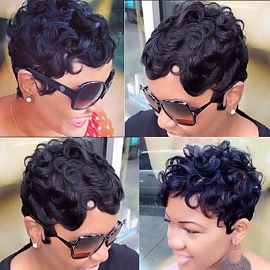 Brazilian Virgin Human Hair None Lace Wigs Short Natural