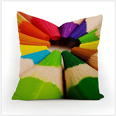 8 Color Geometry Nature Home Cotton Linen Throw Pillow Case Cartoon Decorative Cover Small ...