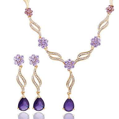Buy 2016 Fashion Wedding Accessory 18K Gold Plated Crystal African Beads Jewelry Set Earring(Necklace Earring)