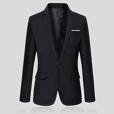 Men's Long Sleeve Regular Blazer,Cotton / Polyester Pure Men OL suit