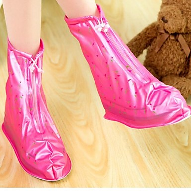 Anti-slip Reusable Rain/snow Protective Zippered Slip-resistant Wear-resistant Rain Shoe Covers Waterproof Overshoes
