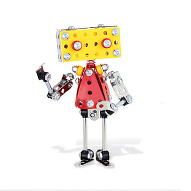 Buy Jigsaw Puzzles 3D / Metal Building Blocks DIY Toys Robot 13Metal Yellow Silver Red Model & Toy