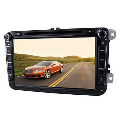 Buy Quad Core 2 Din Pure Android 4.4 Car DVD Player Volkswagen 8 Inch 1024*600 Radio Audio WIFI,CANBUS