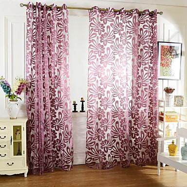 ein panel rustikal blumen pflanzen wie im bild wohnzimmer polyester gardinen shades 4914079. Black Bedroom Furniture Sets. Home Design Ideas
