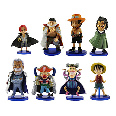 Buy One Piece Anime Action Figure 8CM Model Toy Doll Toy(8 Pcs)