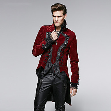 Buy PUNK RAVE Y-569 men's Vintage Long Sleeve Coat