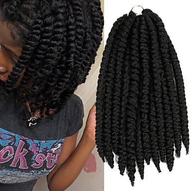 black havana twist braids hair extensions 14inch kanekalon