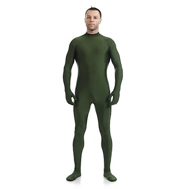 Buy Zentai Suits Ninja Cosplay Costumes Green Solid Leotard/Onesie / Catsuit Lycra Spandex Unisex Halloween Christmas