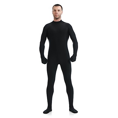 Buy Zentai Suits Ninja Cosplay Costumes Black Solid Leotard/Onesie / Catsuit Lycra Spandex Unisex Halloween Christmas