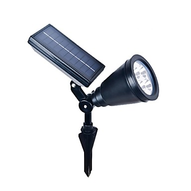 outdoor solar power spotlight landscape spot light garden lawn flood