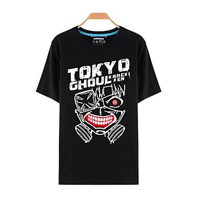 Buy Inspired Tokyo Ghoul Ken Kaneki Anime Cosplay Costumes T-shirt Print Black Short Sleeve Top