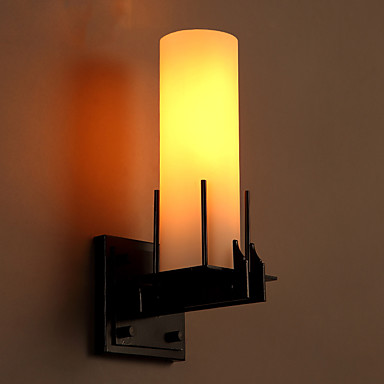 retro loft style wall sconce iron glass vintage wall lamp