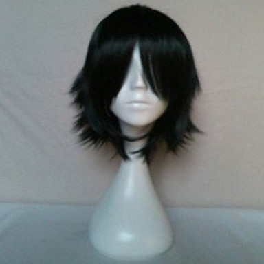 Buy Woman's Synthetic Hair Wigs Short Straight Natural Black Animated Cosplay Wig Party 019A