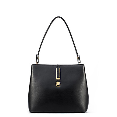Buy NAWO Women Cowhide Tote Black-N153081