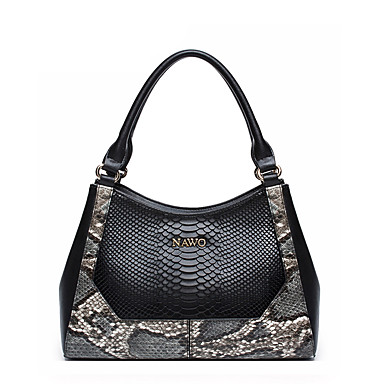 Buy NAWO Women Cowhide Tote Black-N152061