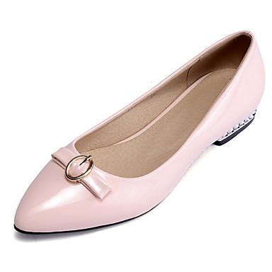 White Flat Closed Toe Shoes