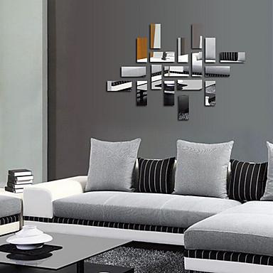 mode fantaisie 3d stickers muraux miroirs muraux autocollants pvc 50x50x0 1 de 4966516 2016. Black Bedroom Furniture Sets. Home Design Ideas