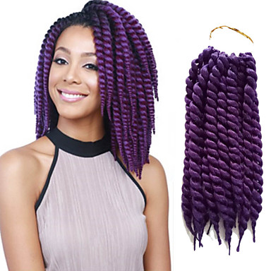 Short Hair Braids Purple Havana Twist Braid Havana Hair Crochet Braid ...