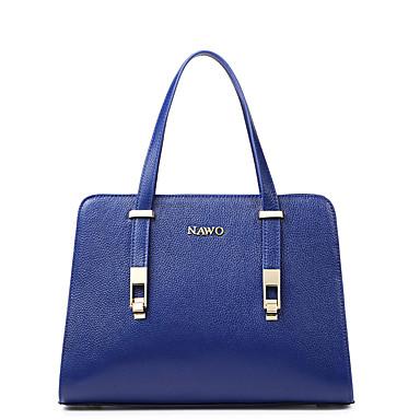 Buy NAWO Women Cowhide Tote Blue-N153331