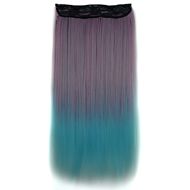 Buy 26 Inch Clip Synthetic Straight Hair Extensions 5 Clips