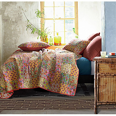 Buy 3PC Quilt Sets Full Cotton Seamed 92 inchW*106 inchL