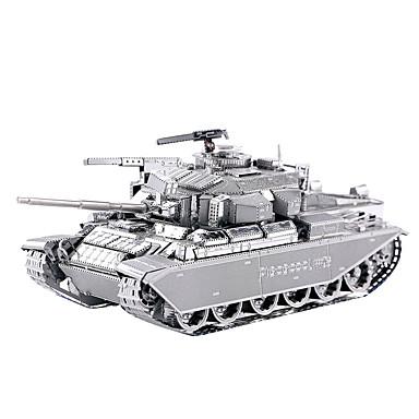 Buy Jigsaw Puzzles 3D / Metal Building Blocks DIY Toys Tank Silver Model & Toy