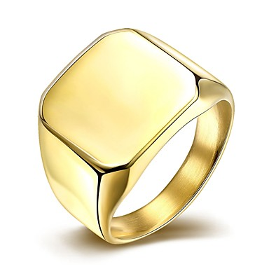 simple fashion men s gold plated titanium steel band rings