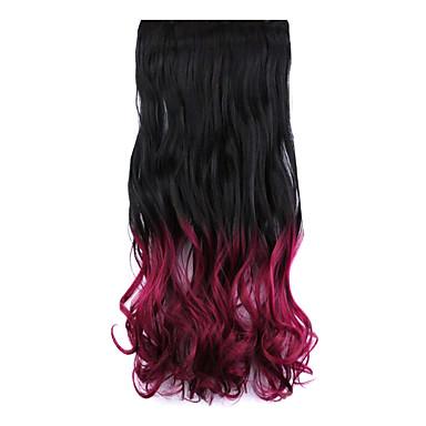 longue perruque de cheveux raides noir et rouge longueur 60cm gradient synth tique de cinq. Black Bedroom Furniture Sets. Home Design Ideas