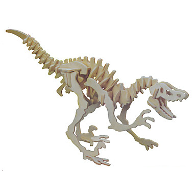 Buy Jigsaw Puzzles 3D / Wooden Building Blocks DIY Toys Dinosaur Wood Beige Model & Toy