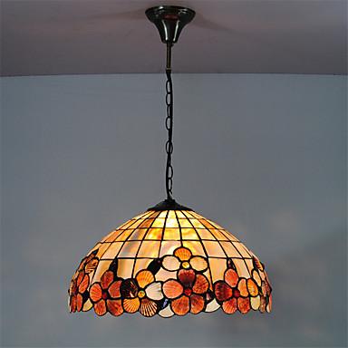 16 inch retro tiffany pendant lights shell shade living room dining room ligh. Black Bedroom Furniture Sets. Home Design Ideas