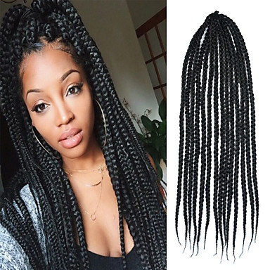 Crochet Box Braids With Kanekalon Hair : Large Box Braid 24 inch Kanekalon 3 Strand 100g Synthetic Hair Braids ...