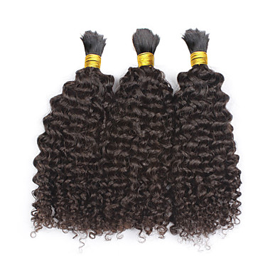 3pcs lot kinky curly hair bulk 12 28 mongolian human