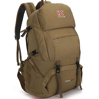 Buy 35 L Rucksack Camping & Hiking Outdoor Waterproof / Multifunctional Khaki Blue Army Green Nylon