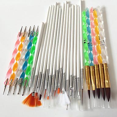 Buy 1nail art tools brushes+Nail Art Acrylic Pen Brush+2-Way Nail Dotting Tool