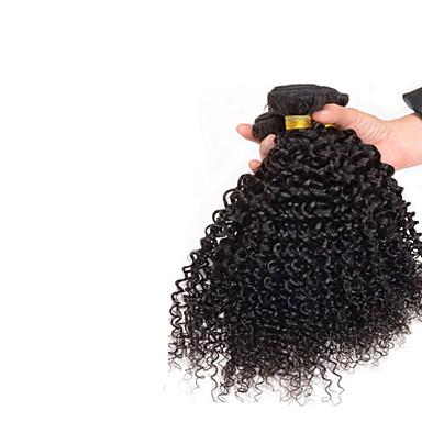 Buy 7A Mongolian Kinky Curly Hair 3 Bundles Natural Black 100% Afro Human Brazilian Virgin