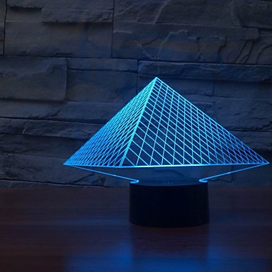 New Usb 7 Colors Changing 3d Led Night Lights Table Lamps