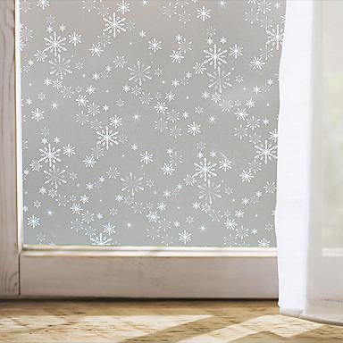 Window film window decals style christmas snowflake matte for 100 cm window box
