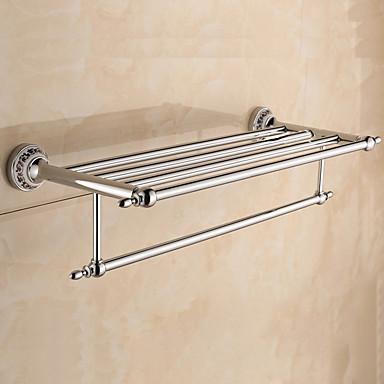 Estanter a de ba o calentador de toallas cromo for Estanteria bano toallas