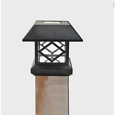 white solar post cap light deck fence mount outdoor garden. Black Bedroom Furniture Sets. Home Design Ideas