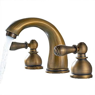 Antique Brass Finish Widespread Bathroom Sink Faucet 3205826 2016