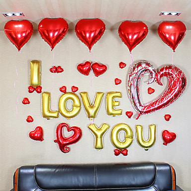 Alphabet letters i love you balloons set34 balloons 1 for I love you letter balloons