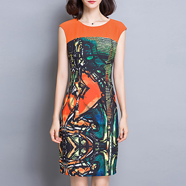 Women's Casual/Daily Sophisticated Bodycon Dress,Print ... - photo#33
